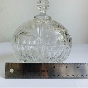 Accents - Vintage Crystal Candy Bowl with Lid